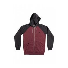 Quiksilver Everyday Zip-Up Kapucnis Pulóver, Gránitvörös, S