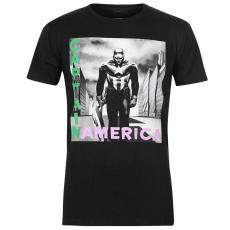 Character férfi póló - Character Marvel T Shirt Mens Captain America