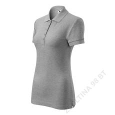 ADLER Cotton ADLER galléros póló női, sötétszürke melírozott