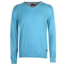 Pierre Cardin V Neck férfi pulóver - Pierre Cardin C V Neck Knit Turquoise