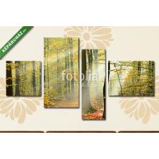 Képáruház.hu Premium Kollekció: Forest(125x70 cm, S02 Többrészes Vászonkép) grafika, keretezett kép