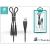 Devia ST300066 Fish1 2 az 1-ben fekete Lightning - Micro USB kábel