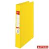 "Nebuló ""Gyűrűs könyv, 4 gyűrű, 42 mm, A4, PP, ESSELTE """"Standard"""", Vivida sárga"""