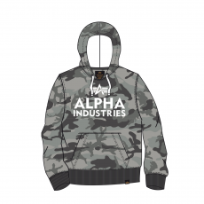 Alpha Industries Foam Print Hoody - greycamo