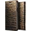 VRS Design (VERUS) iPhone X Genuine Croco Diary oldalra nyíló tok, arany