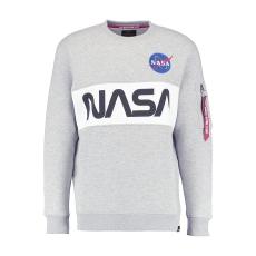 Alpha Indsutries NASA Inlay Sweater - szürke