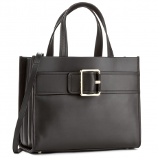 Tommy Hilfiger Táska TOMMY HILFIGER - Tommy Buckle Leather Tote AW0AW04862 002