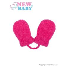NEW BABY Gyermek téli kesztyű New Baby kötéllel rózsaszín | Rózsaszín | 62 (3-6 h)