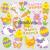 Baker Ross - Húsvéti szivacsos öntapadó csibék, nyuszik
