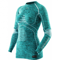 X-Bionic Energy Accumulator EVO Melange women shirt - lake blue melange / white - L/XL