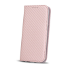 TelForceOne Smart Carbon Samsung Galaxy J7 (2017) oldalra nyíló tok, rose gold