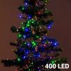 Christmas Planet Színes Karácsonyi Fényfüzér 400 LED