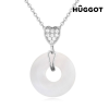Hûggot Love´s Hanger Hûggot ródiumozott nyakék cirkóniakövekkel 45 cm
