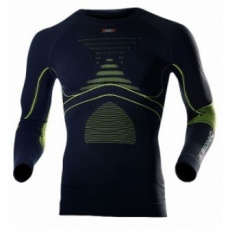 X-Bionic Accumulator Evo men shirt long sleeves - charcoal / yellow - XXL
