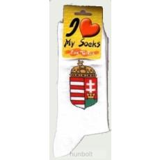 Hunbolt Magyar címeres fehér zokni 46-48