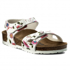 Birkenstock Szandál BIRKENSTOCK - Rio Kids 1008372 China FLowers White