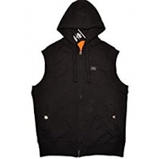 Alpha Industries X-FIT SLEEVELESS ZIP HOODY - fekete