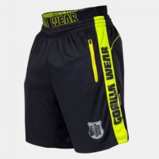 GORILLA WEAR Shelby Shorts - Black/Neon Lime S