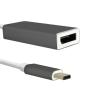 Qoltec Adapter USB 3.1 type C male ; DisplayPort female