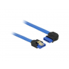 DELOCK Cable SATA 6 Gb/s receptacle straight>receptacle right angled 100cm