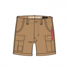Alpha Industries CREW SHORT - khaki