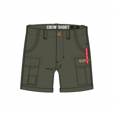 Alpha Industries CREW SHORT - dark olive