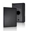Bőrtok, Samsung Galaxy Tab 3 7.0 SM-T210 / P3200 mappa tok, elforgatható (360°) fekete