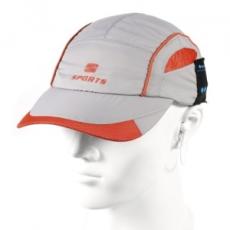 Univerzális bluetooth-os baseball sapka, sztereó fülhallgatóval, légáteresztővel, szürke/narancs