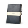 Valódi bőrtok, Samsung Galaxy Tab 2 7.0 P3100, mappa tok, Kalaideng, fekete