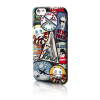 Karl Lagerfeld iPhone 6/6S Travel Paris hátlap, tok, fekete-mintás