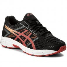 Asics Cipő ASICS - Gel-Contend 4 Gs C707N Black/Fiery Red/Shocking Orange 9023