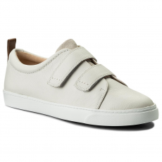 Clarks Sportcipő CLARKS - Glove Daisy 261309824 White Combi Leather