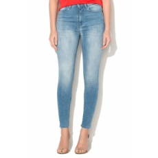 Only , Posh magas derekú skinny farmernadrág, Világoskék, W28-L32 (15147089-LIGHT-BLUE-DENIM-W28-L32)