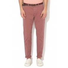 Scotch & Soda , Stuart Slim Fit Chino nadrág levehető övvel, Konyakbarna, W32-L32 (18010180403-1941-W32-L32)