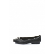 Clarks , Gracelin bőr balerina cipő masnival, Fekete, 5.5 (GRACELIN-BLU-BLACK-LEATHER-5.5)