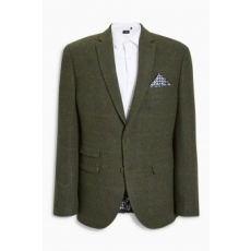 Next , Tailored fit gyapjú tartalmú blézer, Erdőzöld, 42R (193458-GREEN-42R)