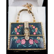Kulcstartó - Kék női táska