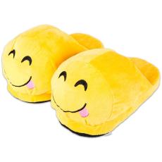 HappyFace: nyelvnyújtós emoji papucs - felnőtt méret