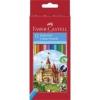 """Faber-Castell Színes ceruza készlet, hatszögletű, FABER-CASTELL \""""Classic\"""", 12 különböző szín [12 db]"""