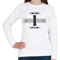 PRINTFASHION b-day-01-dark-lightgrey - Női pulóver - Fehér