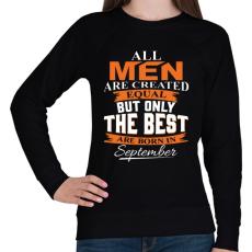 PRINTFASHION A legjobbak szeptemberben születnek - Női pulóver - Fekete