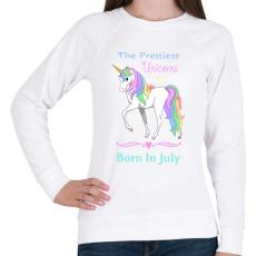 PRINTFASHION A legszebb egyszarvúak júniusban születnek - Női pulóver - Fehér
