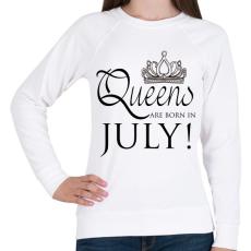 PRINTFASHION Queens - Női pulóver - Fehér