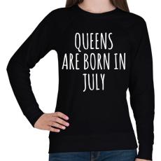 PRINTFASHION A királynők júliusban születnek - Női pulóver - Fekete