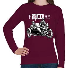 PRINTFASHION fRIDEay  - Női pulóver - Bordó