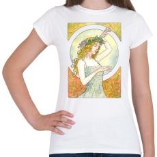 PRINTFASHION Art nouveau - Női póló - Fehér