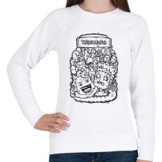 PRINTFASHION Tökfej - Női pulóver - Fehér