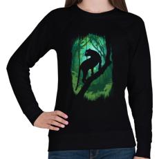 PRINTFASHION Dzsungel könyve - Női pulóver - Fekete