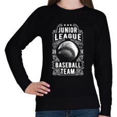 PRINTFASHION Baseball csapat - Női pulóver - Fekete