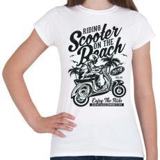 PRINTFASHION Száguldás a tengerparton - Női póló - Fehér